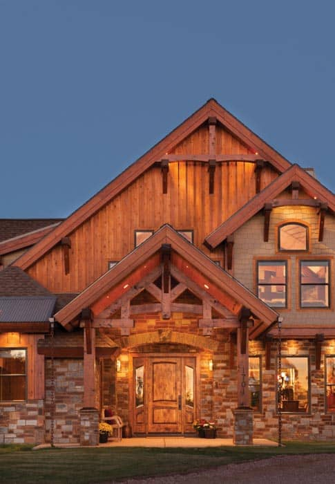 show low arizona timber frame home precisioncraft
