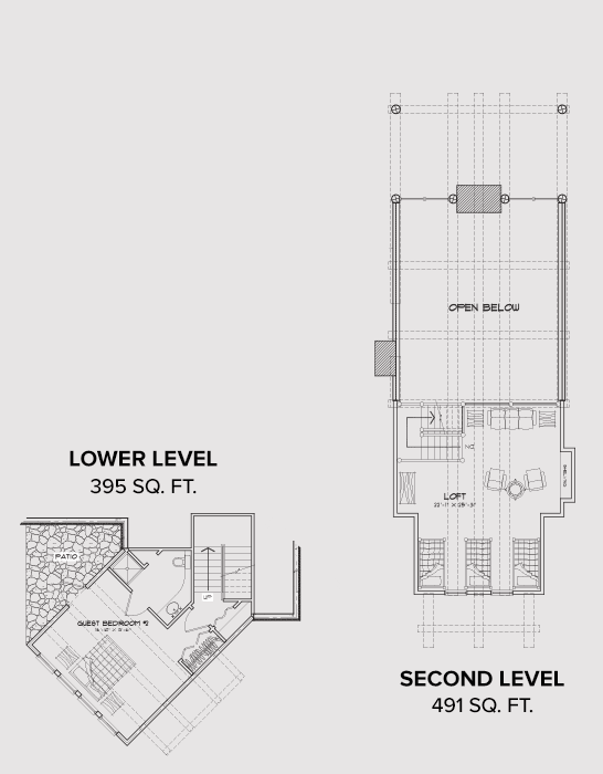 South Fork Second Level Floor Plan