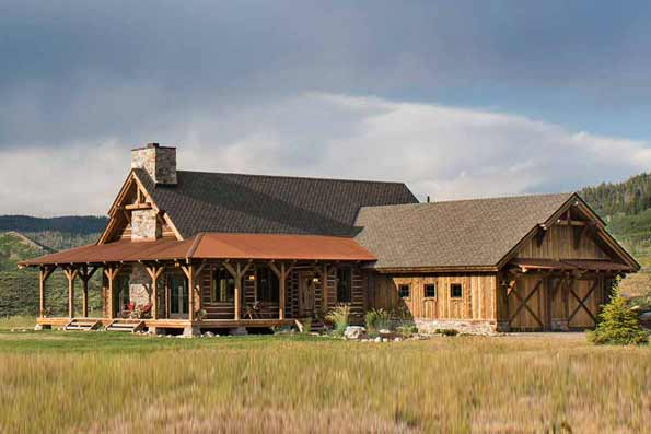 Timber Frame Home Steamboat Colorado
