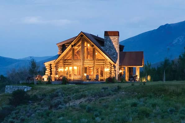 Handcrafted log home Sun Valley Residence
