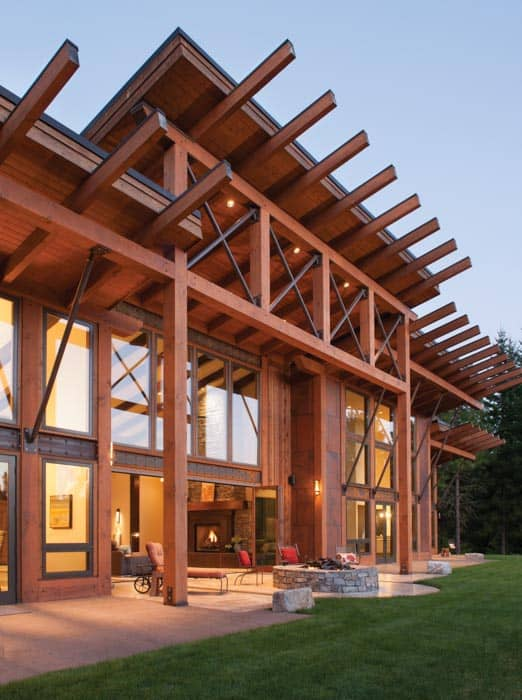 modern timber home architecture. Moderng timber frame entryway