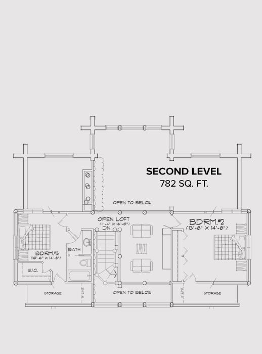 Sunday River Second Floor Plan