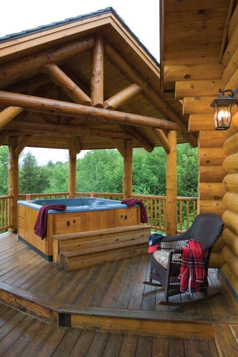 Sunday River Covered Hot Tub