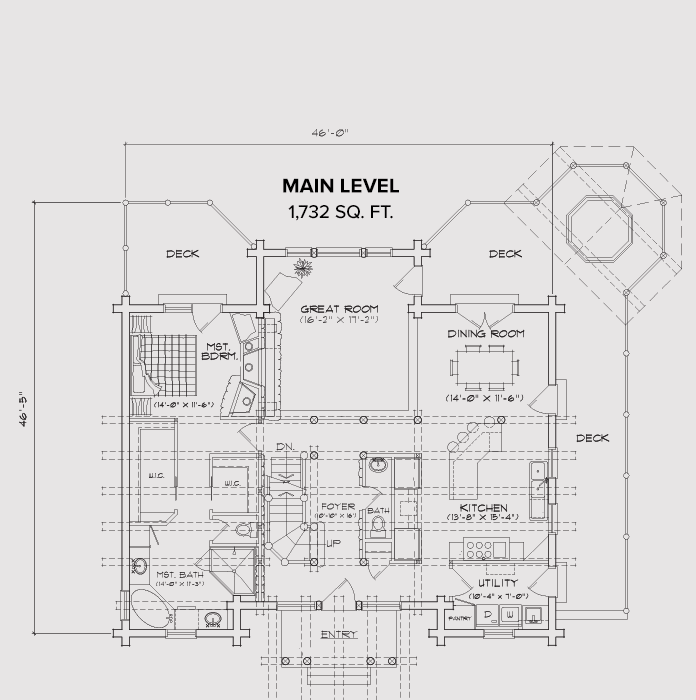Sunday River Main Floor Plan