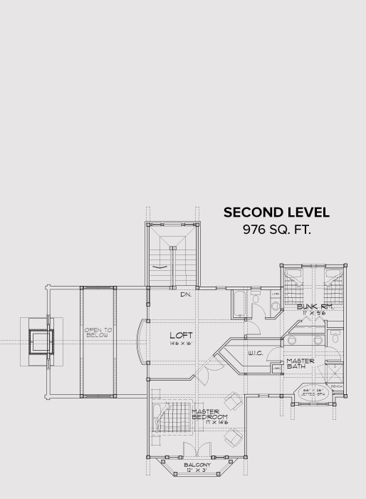 V Second Floor Plan
