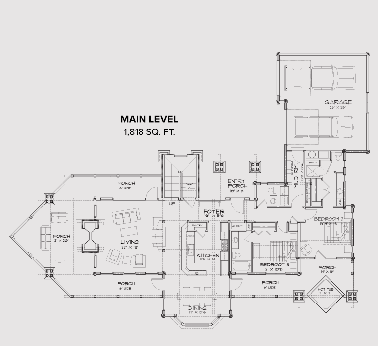 Tamarak Main Floor Plan