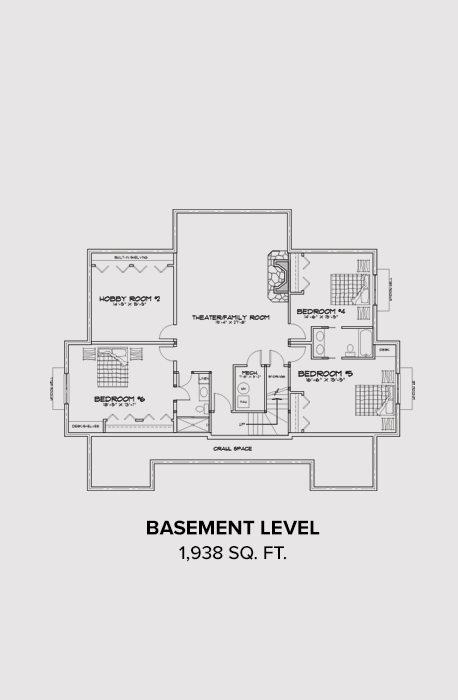 Teton Springs Basement Floor Plan