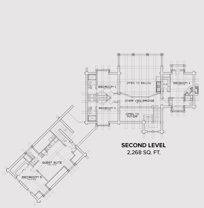Jackson County Second Floor Plan