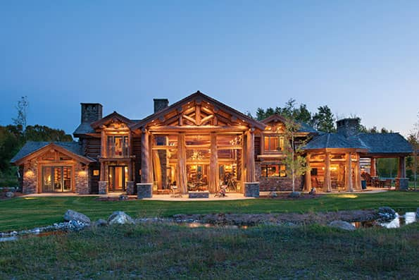 Jackson Hole Handcrafted Log Home Residence