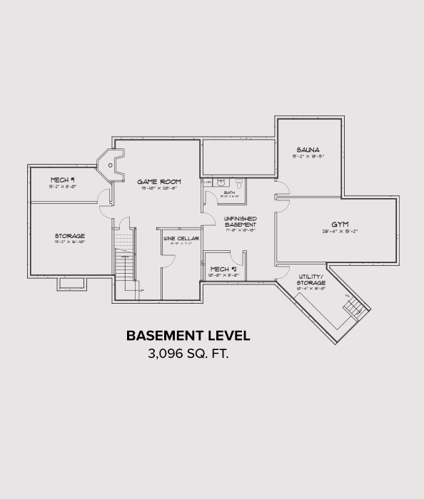 Woolwich Basement Floor Plan
