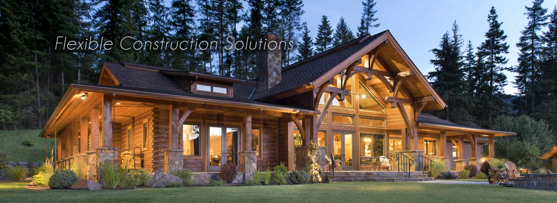 Hybrid Log Timber Home
