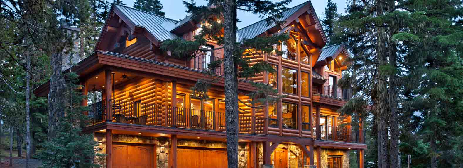milled log home oregon