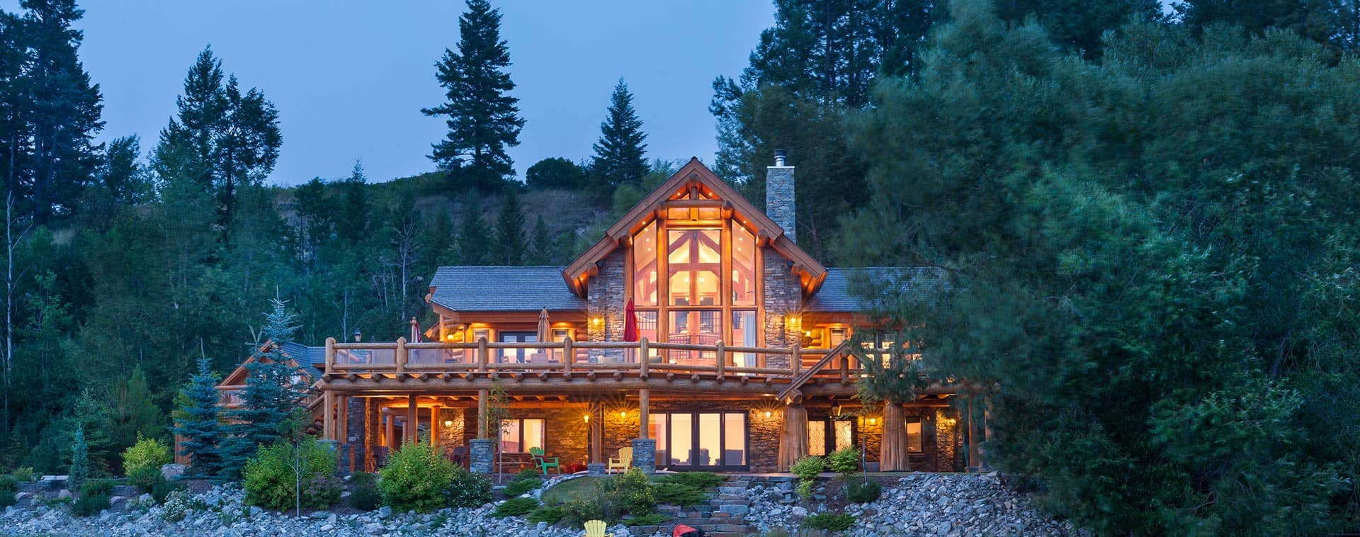 Hybrid Log & Timber Home