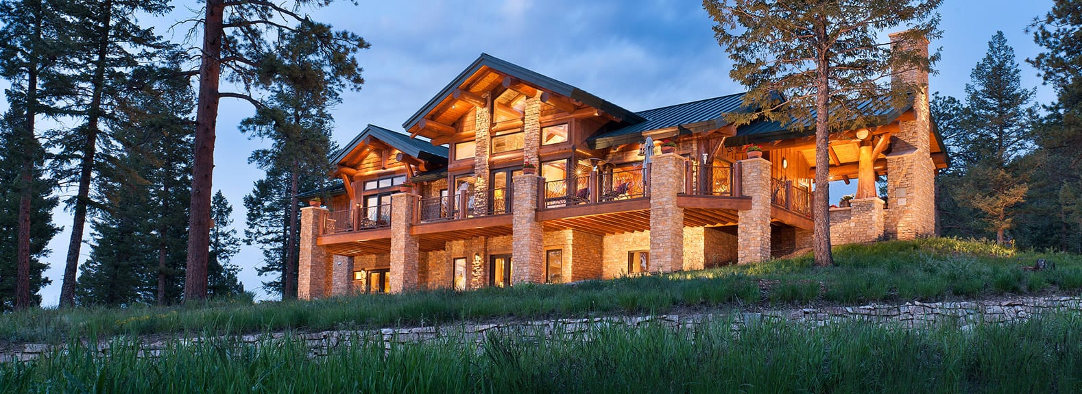 Precisioncraft mountain style homes for Unique mountain homes