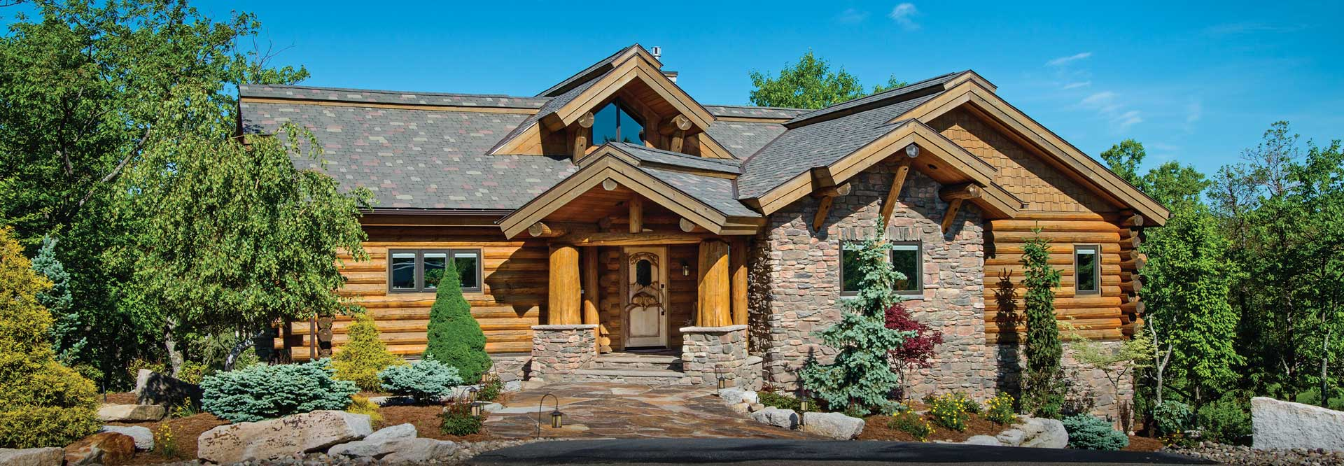 Milled Log Home