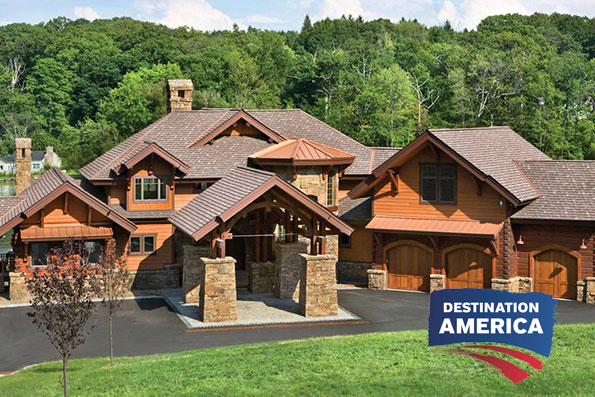 Epic timber home, destination america