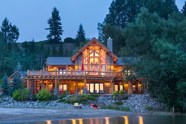 Excellence in Log Home Design Windermere