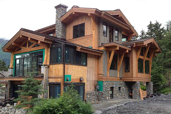 Alaska log and timber frame homes by precisioncraft for Home builders alaska