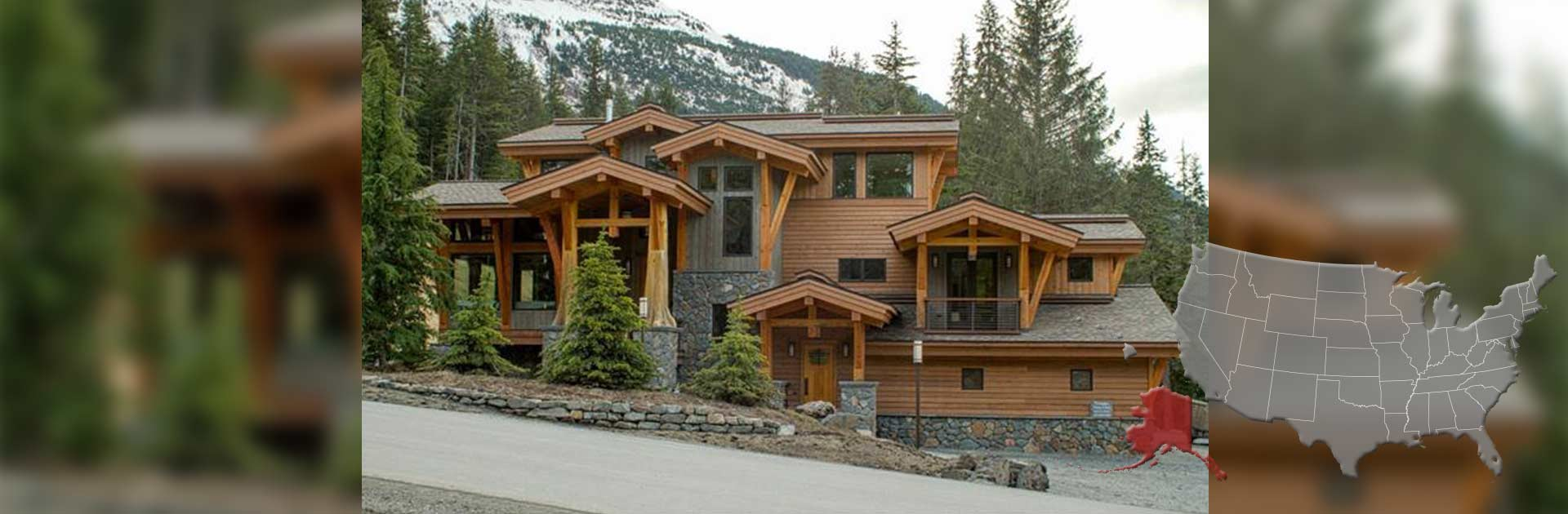 Log cabin builders in alaska for Home builders alaska