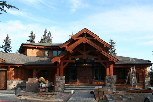 Alberta Hybrid Log and Timber Home 08-013