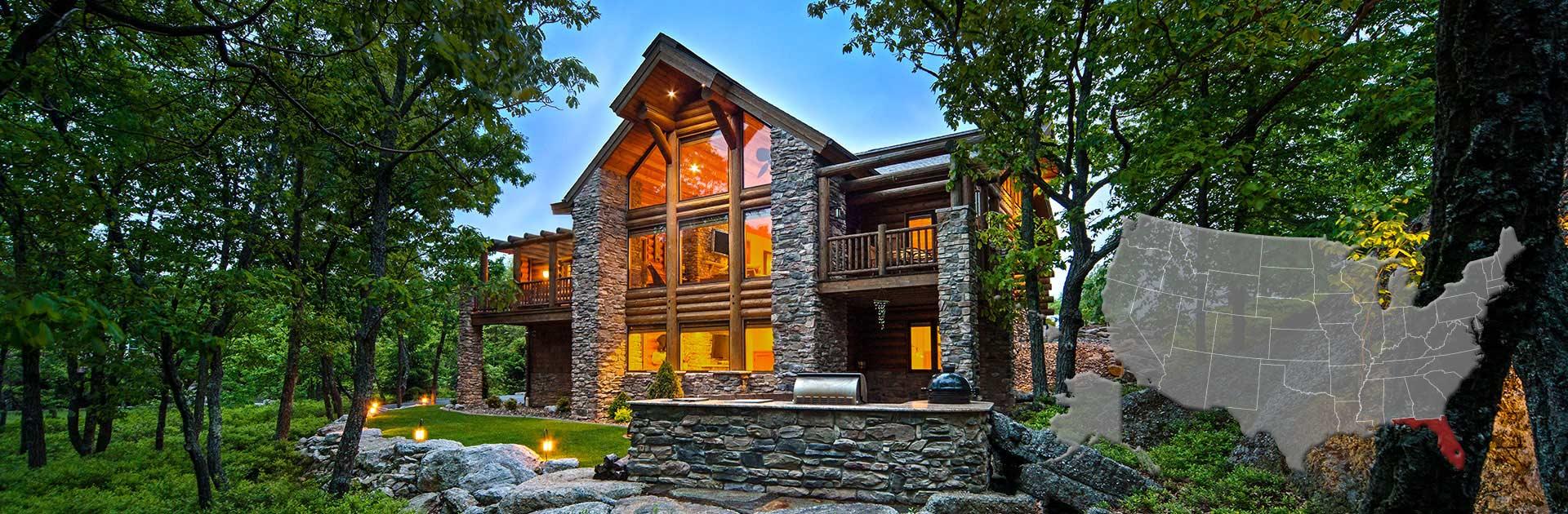 Florida Log And Timber Frame Homes By Precisioncraft
