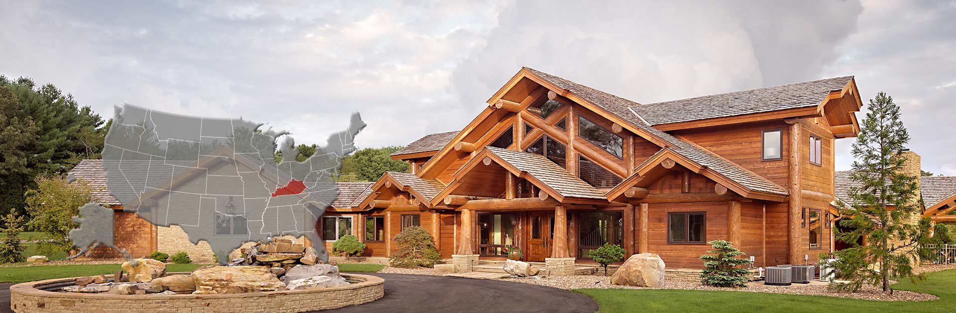 Kentucky handcrafted log home