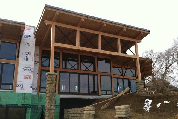 Nebraska Timber Frame Home 15-054