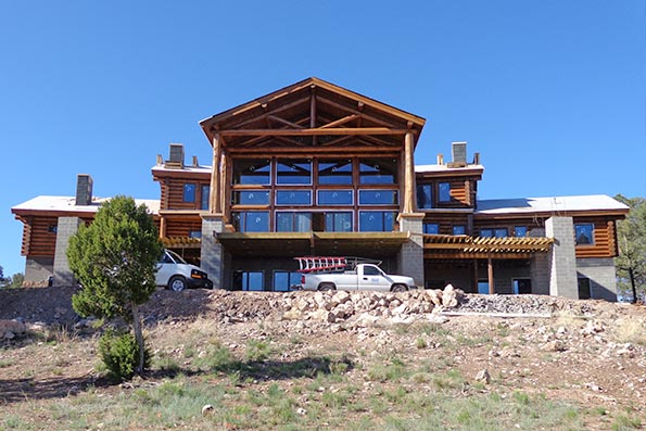 New Mexico Hybrid Log and Timber Home 13-027