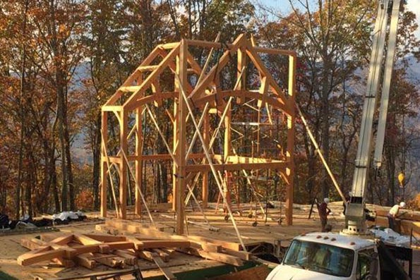 North Carolina Timber Frame Home 15-003