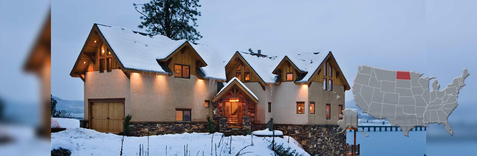 North dakota log and timber frame homes by precisioncraft for North dakota home builders