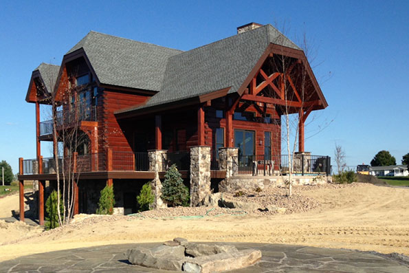 Pennsylvania Milled Log Home Hybrid 12-052