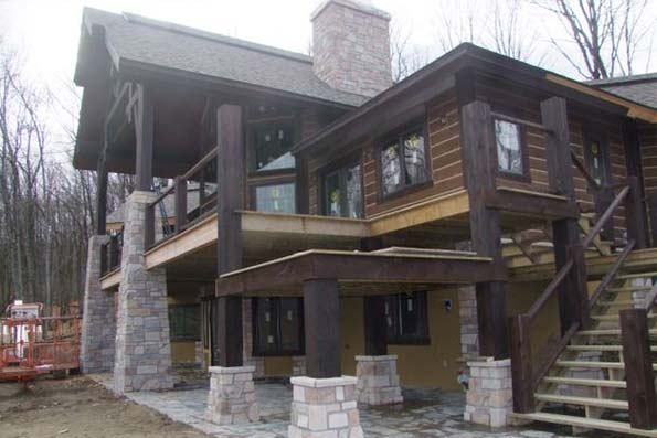 Quebec Timber Frame Home 08-037