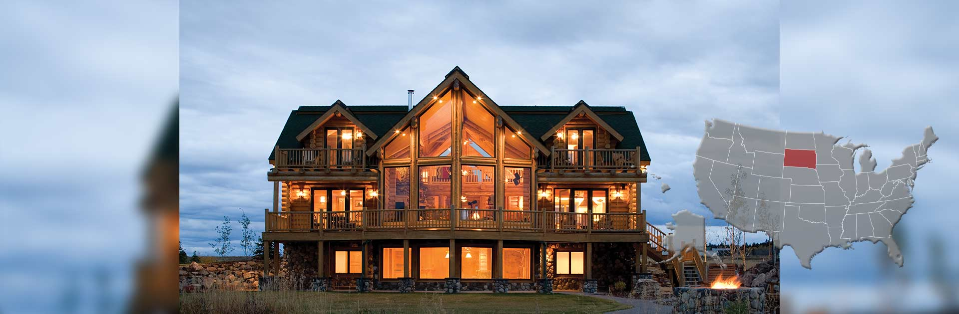 South dakota log and timber frame homes by precisioncraft for South dakota home builders