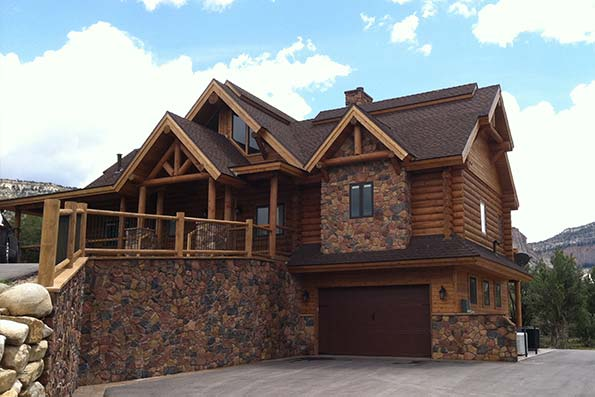 Utah Milled Log Home 08-061