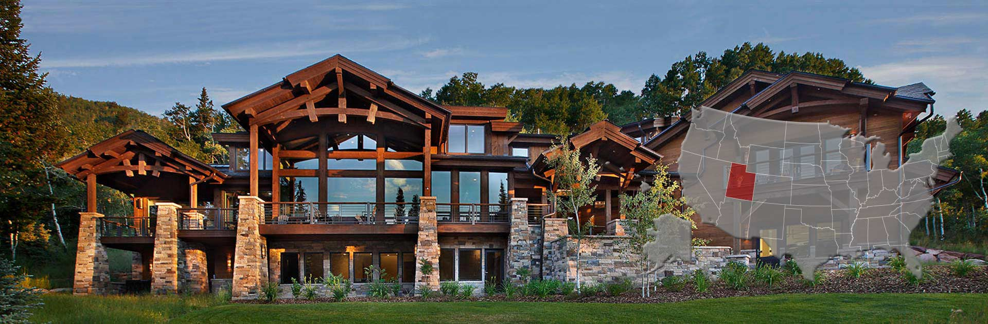 Utah log and timber frame homes by precisioncraft for Timber frame house plans with walkout basement
