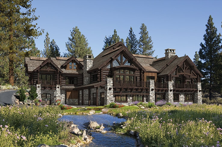 Luxury timber home floor plan