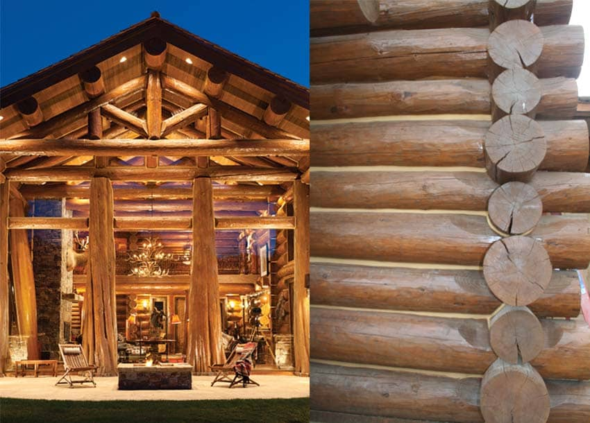Chacteristics of a Handcrafted log home