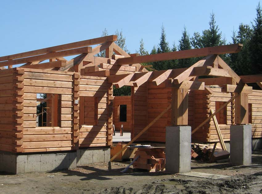 Hybrid Log and Timber home construction