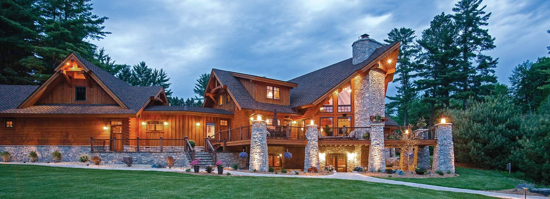 Hybrid Log Amp Timber Frame Homes Precisioncraft