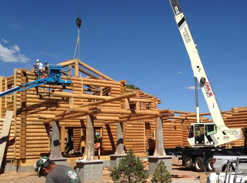 Constructing a Milled Log Home