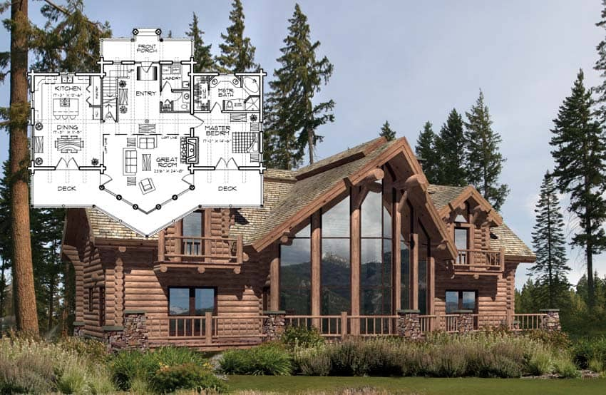 Floor Plan Concepts Custom Design Milled Log Home Floor Plans
