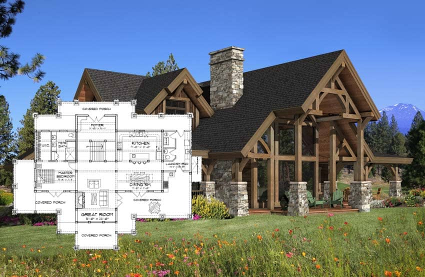 Timber Frame Homes PrecisionCraft Timber Homes Post And Beam - Timber frame homes plans