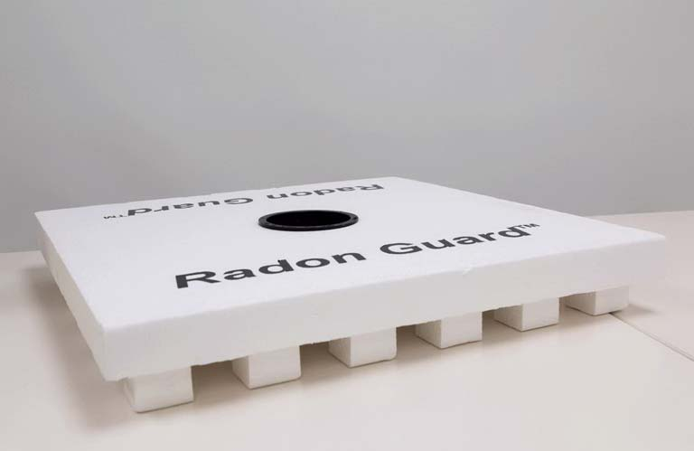 radon guard hole for pipe