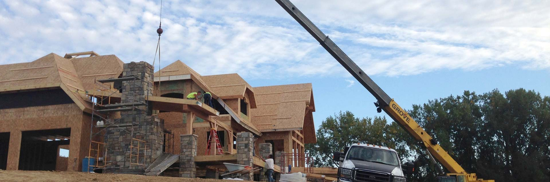 SIP Installation on a timber home