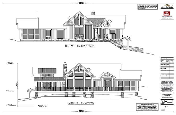 front back elevations