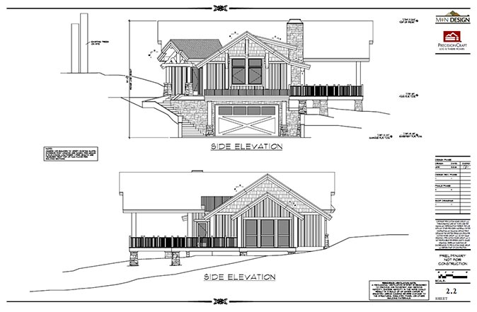 front back elevations