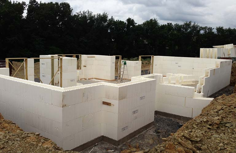 Precisioncraft structural envelope for Insulated concrete forms basement