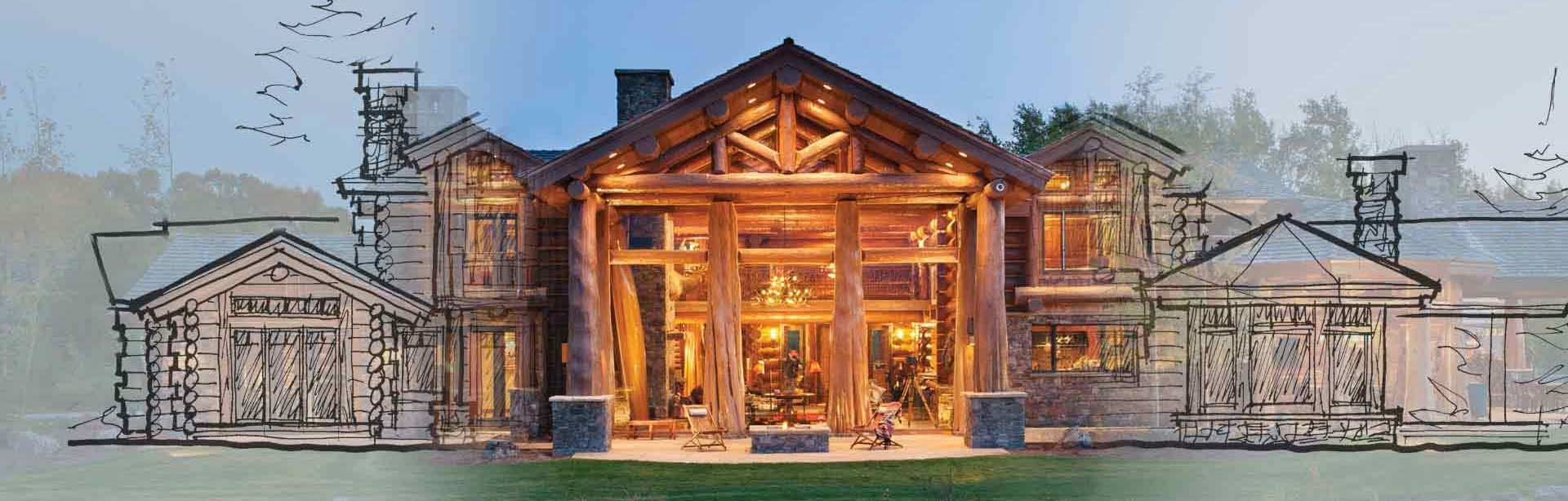 Custom log home design