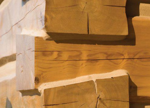 Log Home Corner
