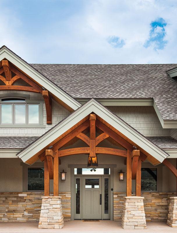 Timber Frame Home Exterior Entry